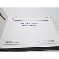 OEM Complete 2000 Cadillac Deville Owners Manual - Very Nice | Alpha