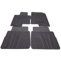 New OEM 2010-2014 Hyundai Sonata Complete Floor Mat Set Black All Weather Rubber
