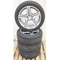 """OEM Mercedes Benz GLE-class AMG Gray Accent 20"""" Wheel Rims and Tires Set Of 4"""