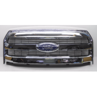 OEM Ford F-150 Lariat Pickup Front Grille 3 Chrome Bars No Camera-Scratches