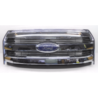 OEM Ford F-150 Lariat Pickup Center Front Grille Chrome Bars W/ Camera-Scratches