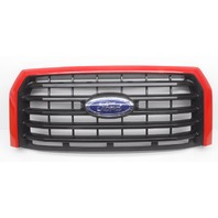 OEM Ford F-150 XLT Pickup Front Grille Race Red Black W/ Emblem-Scratches