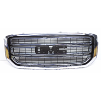 OEM GMC Yukon SLE SLT Front Grille Chrome Without Emblem Tab Missing