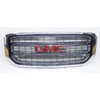 OEM GMC Yukon SLE SLT Front Grille Chrome W/ Emblem No Hardware-Scratches