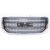 OEM GMC Yukon SLE SLT Front Grille Chrome No Emblem Scratches