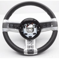 New OEM Ford Mustang Steering Wheel Dark Grey Leather White Stitch W/ Controls
