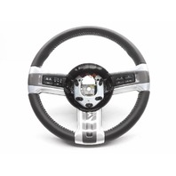 New OEM Ford Mustang Steering Wheel Dark Grey Leather White Stitch W/ Controls E