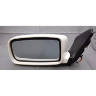 New OEM Mitsubishi Lancer Left White Side View Mirror Power No Heat MN126375WC