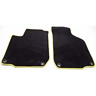 OEM Volkswagen Golf 2-Piece Floor Mat Set Yellow 1J1-061-225-EB-LJS
