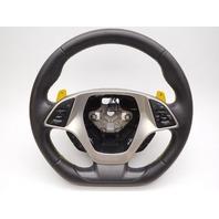 OEM Steering Wheel Black Leather Auto Trans Chevrolet Corvette 84016606