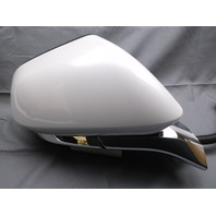 New OEM Lincoln MKZ Right Door Side View Mirror Plat White Heated Power Signal