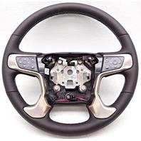 OEM GMC Sierra 1500 Denali Steering Wheel Black Leather Small Scratch