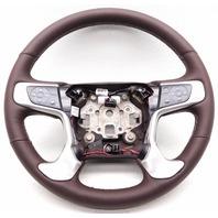 OEM GMC Sierra 2500 3500 Denali Steering Wheel Leather Cocoa Silver Heated