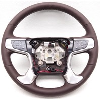 OEM GMC Sierra 2500 3500 Denali Steering Wheel Leather Cocoa Silver Scratches