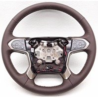 OEM Chevy Suburban Tahoe Steering Wheel Cocoa Leather With Heat 84053953