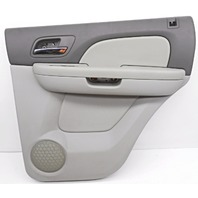 OEM Chevrolet Tahoe Yukon Rear Passenger Side Interior Door Trim Panel Titanium
