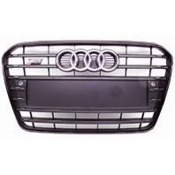 New OEM Audi Euro Style Black Front Grille W/ Emblem S5 Badge 8T0853651N-NON US