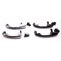 OEM Mercedes C Class Full 4 Door Exterior Handle Kit W/ Keyless Chrome Black