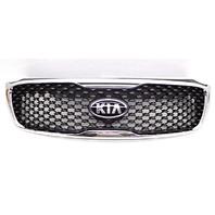 OEM Kia Sorento Matte Black Front Upper Grille W/ Emblem-Scuffs/Scratches