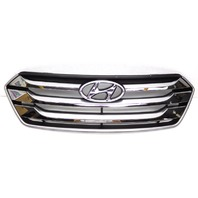 OEM Hyundai Santa Fe Sport Chrome Front Upper Grille-Scratches