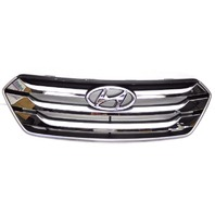 OEM Hyundai Santa Fe Sport Chrome Front Upper Grille-Heavy Scratches