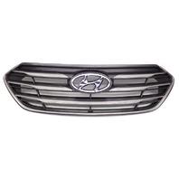 OEM Hyundai Sante Fe Sport Matte Silver Front Upper Grille-Heavy Scratches