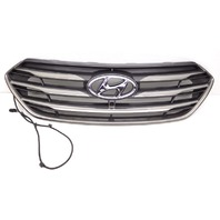 OEM Hyundai Sante Fe Sport Matte Silver Front Upper Grille W/ Camera-Scratches