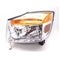 OEM Nissan Armada Left Driver Halogen Headlight Head Lamp-Lens Visual