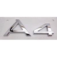 New OEM Audi A4 Rear Trunk Lid A4 Chrome Emblem Badge 8E0-853-741-2ZZ