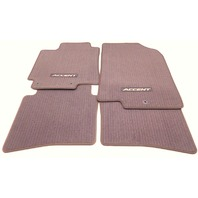 OEM Hyundai Accent Sedan 4-piece Floor Mat Set Brown 1RF14-AC100-B1