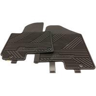OEM Hyundai Tucson 2 Piece Front Floor Mat Set 2SF13-AC100 Black Rubber