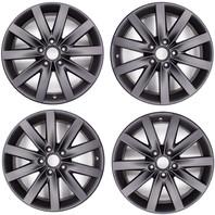 Volkswagen Audi Mercedies 17 inch Alloy Porto Wheel Set Flat Black