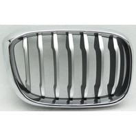 OEM BMW X3 Right Side Grille Insert 51137464930-03 Chrome Trim Titanium Insert
