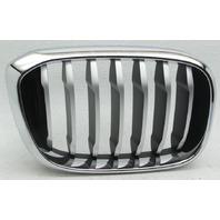 OEM BMW X3 Right Side Grille Insert 51137478670-04 Chrome Trim Titanium Insert