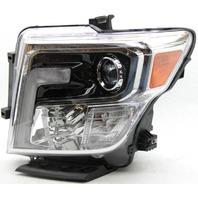 OEM Nissan Titan Left Driver Side LED Headlamp Upper Mount Chipped 26060-EZ22B
