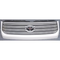 OEM Toyota Tundra Upper Grille Painted White Surround With Emblem