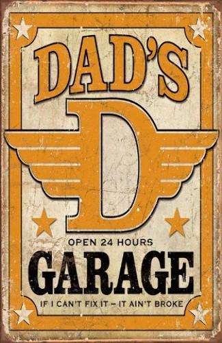 New tin signs dad s garage open hours tsn ebay
