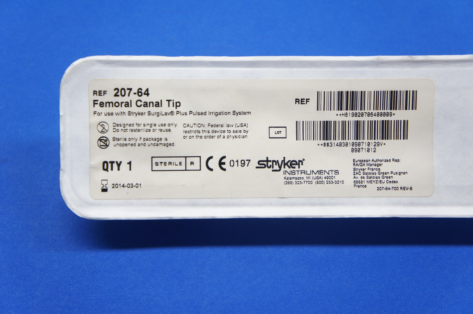 Femoral Canal Tip STRYKER – Marlins Medico