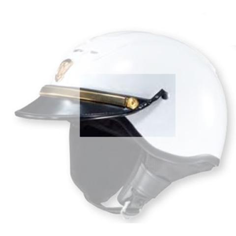 Shoei GOLD 'P' POLICE Buttons w/Posts RJ Platinum Helmet - Law Enforcement