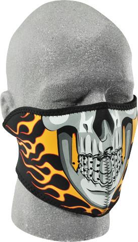 c08fe24e405 ZANheadgear Neoprene Half Mask Burning Skull - WNFM061H