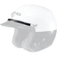 "Shoei RJ Platinum-LE Helmet Law Enforcement Silver Deluxe 10"" Rank Band 03-891"