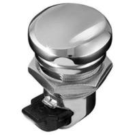 Kuryakyn 1467 Chrome Push Button Fuel Door Latch Harley Dresser Models 1992-2018