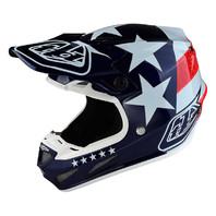 Troy Lee Designs SE4 Freedom Blue Flag Composite Motocross Helmet - All Sizes