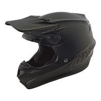 Troy Lee Designs SE4 Polyacrylite MONO Black Motocross Helmet - All Sizes
