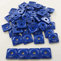Woodys Snowmobile Square Digger® Blue Aluminum Support Plate 48 Pack - ASW2-3795-48