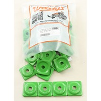 Woodys Snowmobile Square Digger® Green Support Plate 48 Pack - ASW2-3780-48