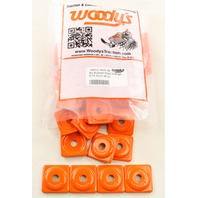 Woodys Snowmobile Square Digger® Orange Support Plate 48 Pack - ASW2-3805-48