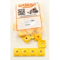 Woodys Snowmobile Square Digger® Yellow Support Plate 48 Pack - ASW2-3800-48