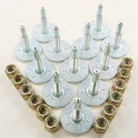 """Woodys Grand Master Snowmobile 1.075"""" Track Studs and Support Plates 12 Pack Kit"""