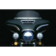 Kuryakyn 7131 Bat Lashes w/ LED Signals Running Lights 2014-2018 Harley Glides